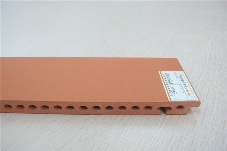 Orange Red Terracotta Facade Cladding Hollow Structure With Heat Preservation